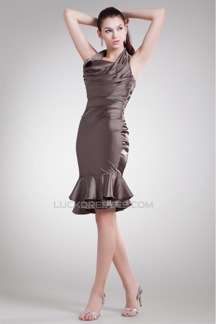 Sleeveless Elastic Woven Satin Short/Mini Prom/Formal Evening Dresses 02021523