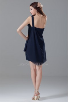 Sleeveless One-Shoulder Short/Mini A-Line Prom/Formal Evening Dresses 02021524