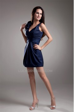 Sleeveless Pleats V-Neck Sheath/Column Prom/Formal Evening Dresses 02021528