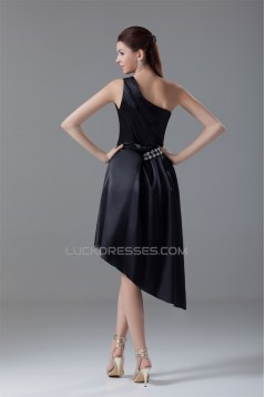 Sleeveless Ruched A-Line Asymmetrical One-Shoulder Prom/Formal Evening Dresses 02021529