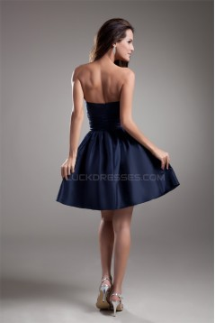 Sleeveless Short/Mini A-Line Ruffles Strapless Prom/Formal Evening Bridesmaid Dresses 02021531