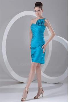 Sleeveless Short/Mini Taffeta Sheath/Column Prom/Formal Evening Dresses 02021534