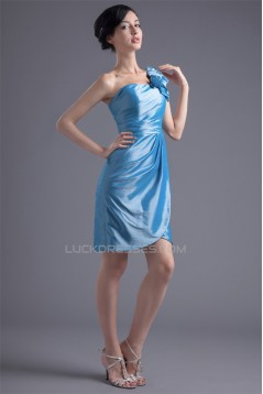 Sleeveless Taffeta Falbala Sheath/Column Prom/Formal Evening Bridesmaid Dresses 02021536