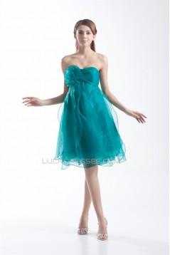 Strapless A-Line Knee-Length Sleeveless Prom/Formal Evening Dresses 02021538