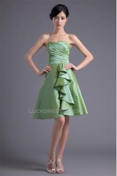 Sweetheart Cascading Ruffles A-Line Knee-Length Prom/Formal Evening Bridesmaid Dresses 02021541