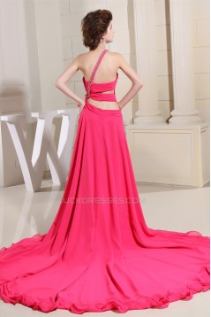Court Train Sleeveless Beading One-Shoulder Prom/Formal Evening Dresses 02020164