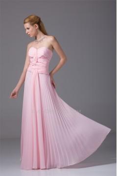 Criss Cross A-Line Sweetheart Floor-Length Long Pink Prom Evening Bridesmaid Dresses 02020167