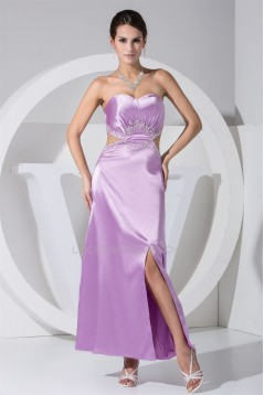 Elastic Woven Satin Sweetheart A-Line Ankle-Length Prom/Formal Evening Dresses 02020170