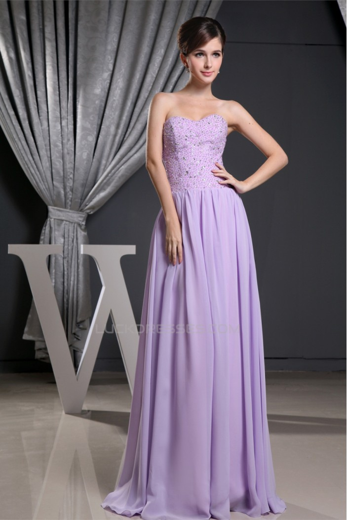 A-Line Floor-Length Sleeveless Chiffon Prom/Formal Evening Dresses 02020174