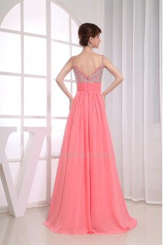 A-Line Sleeveless Floor-Length Chiffon Prom/Formal Evening Dresses 02020175
