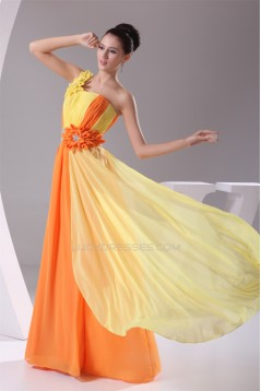 A-Line Floor-Length Beading One-Shoulder Long Prom/Formal Evening Dresses 02020181
