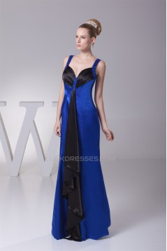 Floor-Length Beading Silk like Satin Mermaid/Trumpet Long Evening Bridesmaid Dresses 02020183