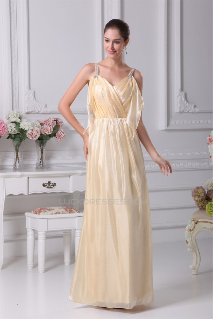 Floor-Length Beading Silk like Satin South Korean Voile Long Prom Evening Bridesmaid Dresses 02020184