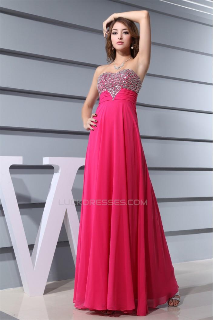 Floor-Length Sweetheart A-Line Beading Chiffon Prom/Formal Evening Dresses 02020198