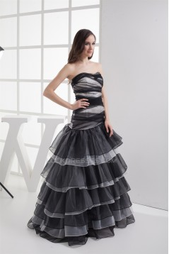 A-Line Strapess Sleeveless Beaded Long Prom/Formal Evening Dresses 02020200