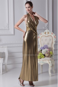 Halter Sleeveless Sheath/Column Ankle-Length Prom/Formal Evening Dresses 02020207
