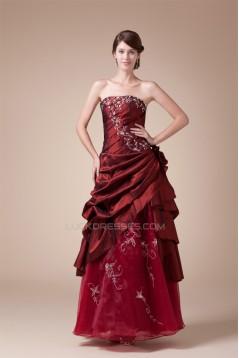 Handmade Flowers Square Taffeta Organza Prom/Formal Evening Dresses 02020208