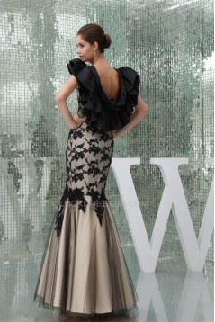 Lace Sleeveless Satin Lace Fine Netting One String Netting Prom/Formal Evening Dresses 02020214