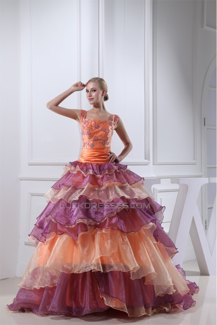 Ball Gown Beading Long Prom/Formal Evening Dresses 02020218