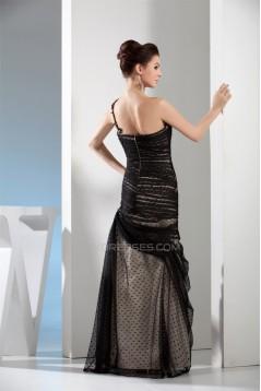 Mermaid/Trumpet One-Shoulder Long Prom/Formal Evening Dresses 02020221