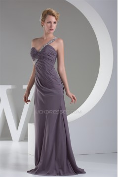 One-Shoulder Sheath/Column Floor-Length Long Prom/Formal Evening Dresses 02020235