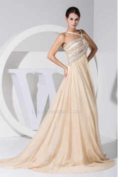 A-Line Asymmetrical Puddle Train Sleeveless Prom/Formal Evening Dresses 02020247
