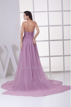 A-Line Ruffles Chiffon Long Prom/Formal Evening Dresses 02020255