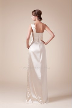 Ruffles One-Shoulder Sleeveless A-Line Floor-Length Prom/Formal Evening Dresses 02020256