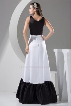 A-Line Floor-Length Satin Prom/Formal Evening Dresses 02020263