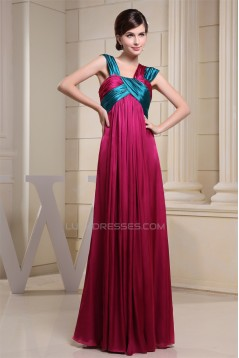 Empire Ruched Sleeveless Straps Floor-Length Prom/Formal Evening Dresses 02020267