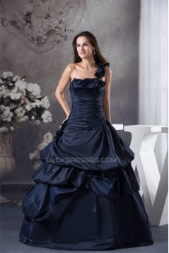 Ball Gown One-Shoulder Sleeveless Beading Princess Prom/Formal Evening Dresses 02020272