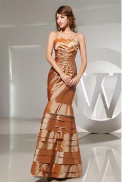 Trumpet/Mermaid Taffeta Beading Floor-Length Sleeveless Long Prom Evening Dresses 02020279