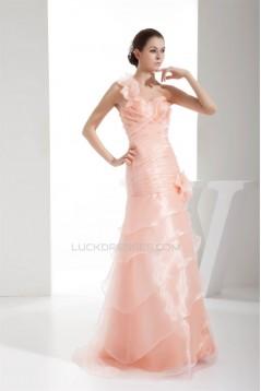 One-Shoulder Sleeveless Ruffles Long Prom/Formal Evening Dresses 02020281