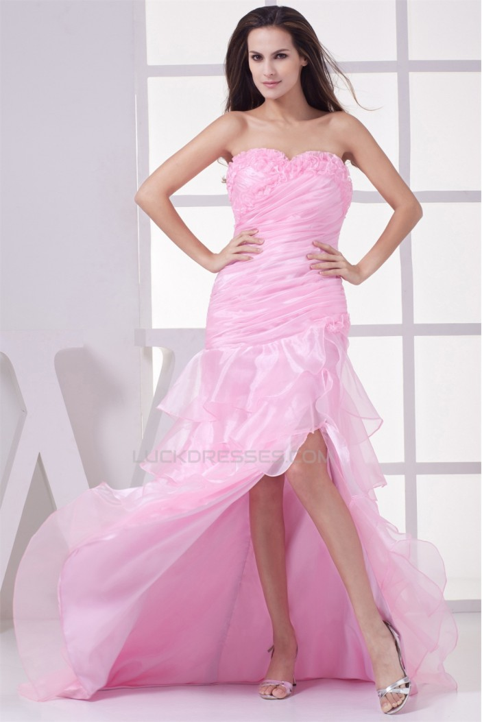 Sweetheart Long Pink Prom/Formal Evening Dresses 02020286