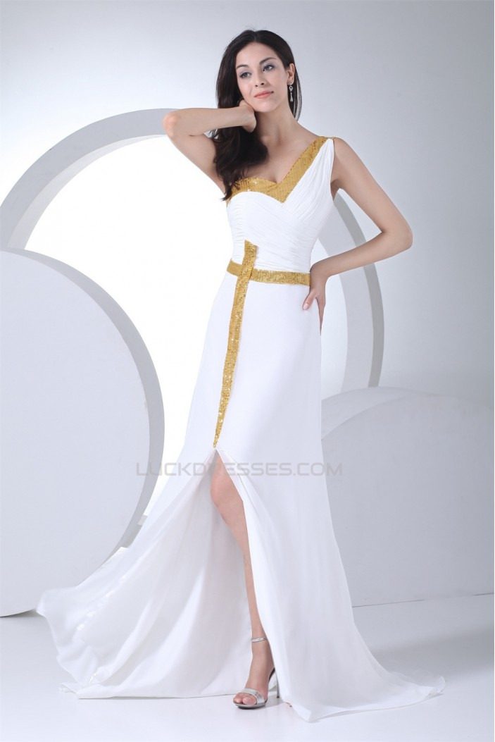 Sheath/Column Brush Sweep Train One-Shoulder Prom/Formal Evening Dresses 02020287