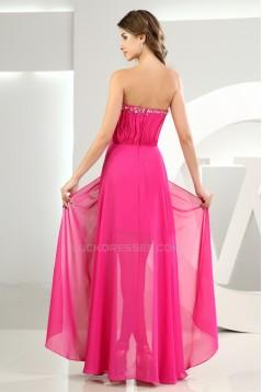 Sheath/Column Chiffon Sweetheart Beaded Prom/Formal Evening Dresses 02020292