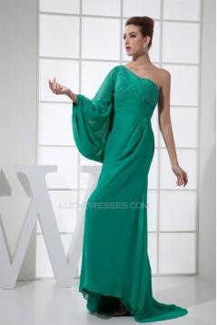 Sheath/Column Floor-Length Long Sleeves Prom/Formal Evening Dresses 02020295
