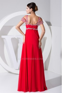 Empire Floor-Length Straps Beading Long Red Prom Evening Formal Maternity Dresses 02020296
