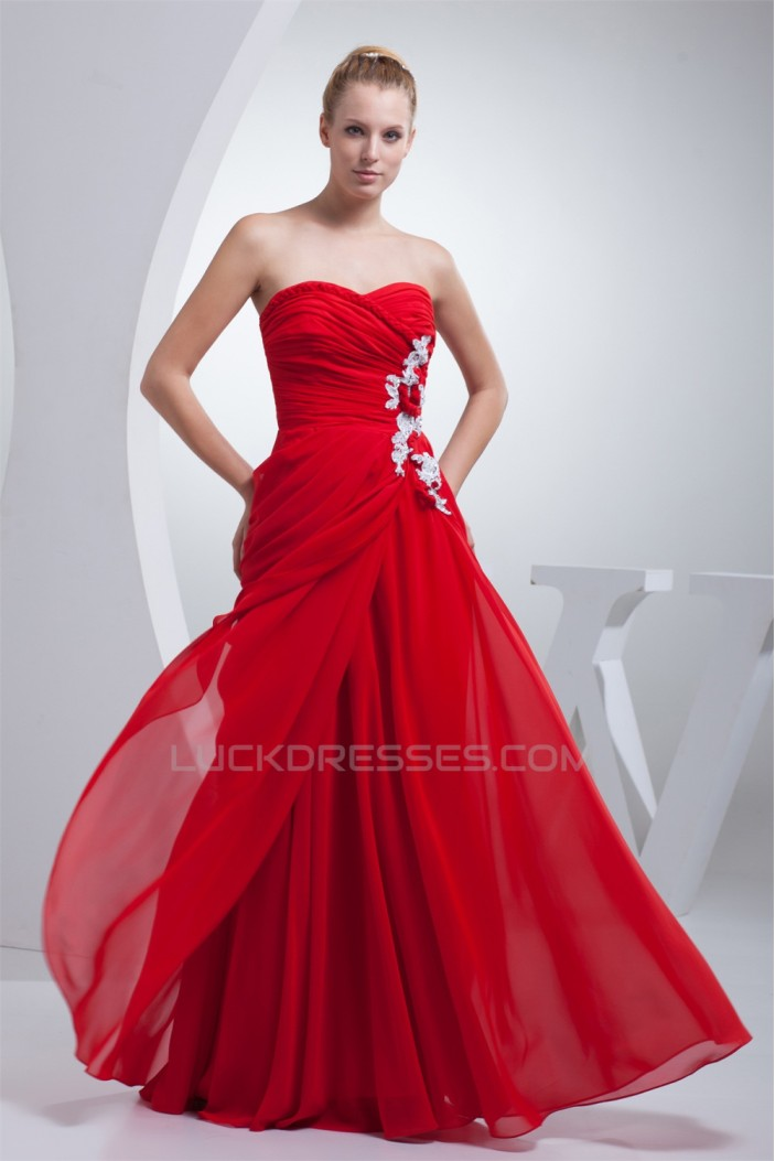 Sheath/Column Sleeveless Beading Floor-Length Red Prom/Formal Evening Dresses 02020302