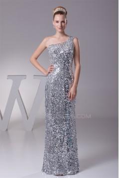 Sheath/Column One-Shoulder Sequins Long Prom/Formal Evening Dresses 02020304