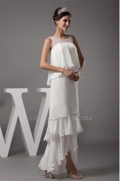 Sheath/Column Sleeveless Scoop Chiffon Long Prom/Formal Evening Dresses 02020305
