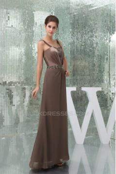 Sheath/Column Spaghetti Straps Sleeveless Prom Evening Formal Dresses 02020307