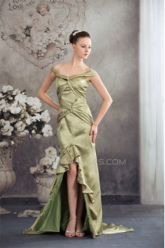 Silk like Satin Asymmetrical Straps Off-the-Shoulder Prom/Formal Evening Dresses 02020312