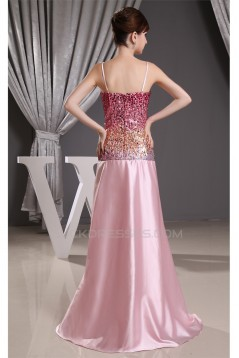 Silk like Satin Sweetheart A-Line Sequins Prom/Formal Evening Dresses 02020321