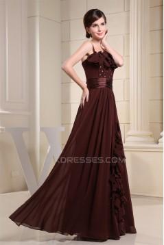 A-Line Square Floor-Length Handmade Flowers Prom/Formal Evening Dresses 02020327