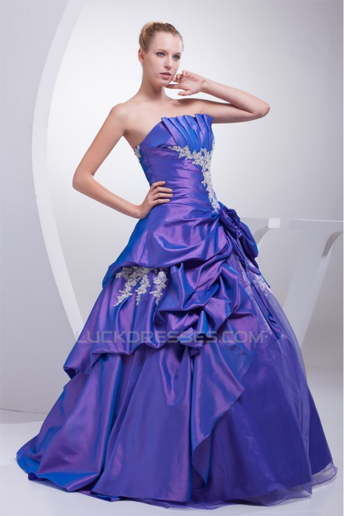 Ball Gown Strapless Beading Floor-Length Prom/Formal Evening Dresses 02020330