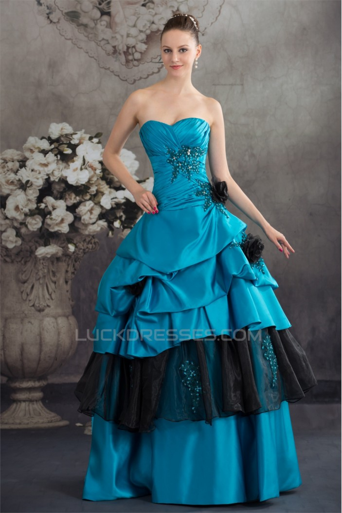 Ball Gown Beading Floor-Length Prom/Formal Evening Dresses 02020333