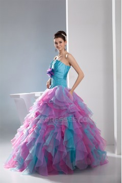 Ball Gown Strapless Beading Prom/Formal Evening Dresses 02020337