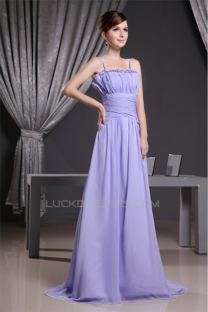 A-Line Spaghetti Strap Long Chifffon Prom/Formal Evening Bridesmaid Dresses 02020345