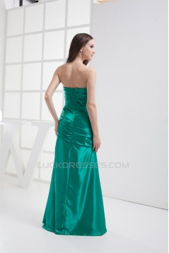 Sleeveless Brush Sweep Train Silk like Satin Prom/Formal Evening Dresses 02020346